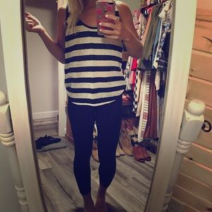 J.Crew Striped Linen Tank, Small
